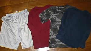 Lot of 1 shorts 3 shirts for boys youth size XL 14-16 Simply Sports Faded Glory