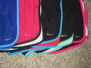 LOT 5 NIKE DRI-FIT TEMPO RUNNING SHORTS WOMEN SIZE SMALL W BRIEF LINER