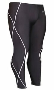 emFraa Skin Tights Compression Leggings Baselayer Running Pants men women S