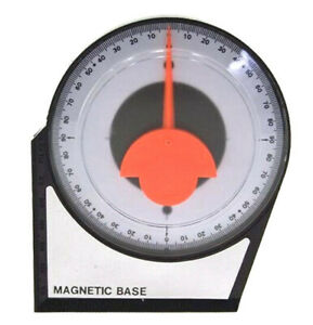 Magnetic Dial Gauge Angle Finder Inclinometer Protractor Clinometer Pinion Tool $11.49