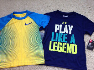 Boys size 4 NIKE Dri Fit & Cotton SS Tops T-Shirt Lot of 2 Tees NWT