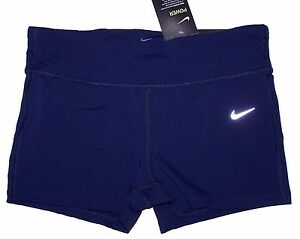 Nwt New Nike Power Epic Lux Power Running Shorts Tight Fit Dri-FIT Navy Women