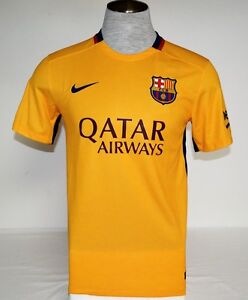 Nike Dri Fit FCB FC Barcelona Short Sleeve Football Soccer Jersey Men's NWT