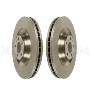Pair Set of 2 Front Vented Disc Brake Rotors ATE Coated For Audi A8 Quattro S8
