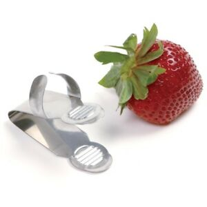 Norpro Stainless Steel Strawberry Huller with Finger Grip #5127D