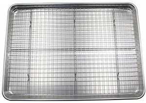 Checkered Chef Half Sheet Pan And Rack Set - Aluminum Cookie SheetBaking Sheet