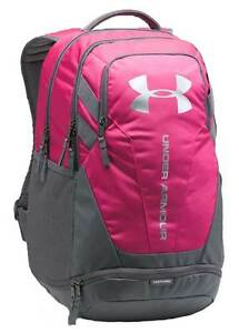 Under Armour Hustle Backpack - Tropical Pink  Graphite  Silver - New