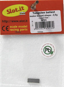 SLOT IT SISP23 TUNGSTEN BALLAST WEIGHT 2.5gram BAR NO LEAD 132 SLOT CAR PART