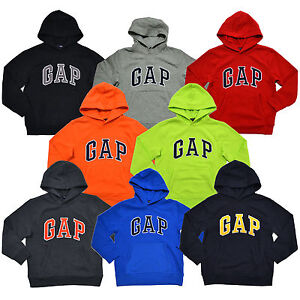 Gap Boys Hoodie Kids Pullover Sweatshirt Arch Logo Fleece Lined Pockets New Nwt $22.99