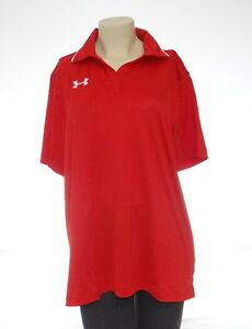 Under Armour Red Short Sleeve Polo Shirt Women's Extra Large XL NWT
