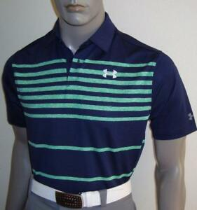(SUN) 2017 Mens Under Armour Jordan Spieth PGA Sunday Golf Polo Shirt $75 (NVY)