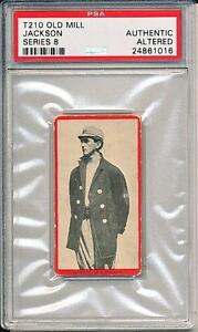 Joe Jackson 1910 T210 Old Mill Series 8 Extremely Rare Card of Jackson