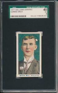 Connie Mack 1911 D359 Williams Baking SGC 40 3  1 of 3 graded! 7 or less known G