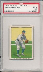 SAM CRAWFORD 1911 D304 GENERAL BAKING BRUNNERS BUTTER KRUST PSA 5.5 Highest!!