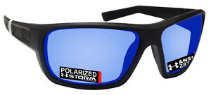 Under Armour 8630098-010168 launch black rubber frame polarized blue mirror lens