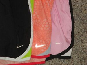 GIRLS NIKE DRI-FIT RUNNING TEMPO SHORTS SIZE XL W BRIEF LINER