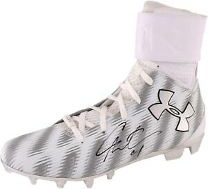 Cam Newton Carolina Panthers Autographed Under Armour White Left Cleat