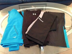 LOT OF 5 ITEMS BCG UNDERARMOUR UNDER ARMOUR PANTS HOODIES BOYS YOUTH SIZE LARGE