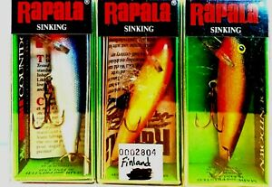 Vintage (Finland) Rapala Sinking Countdown Fishing Lure ( One Package )