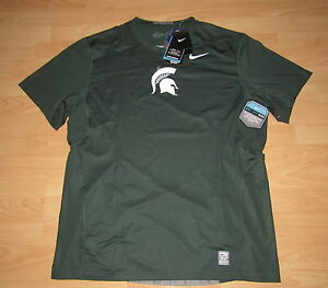 Authentic Michigan State Spartans Nike Pro Combat HyperCool Jersey men's 2XL