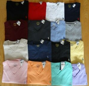 Polo Ralph Lauren Mens V NECK T Tee Shirt Brand New With Tag Size S M L XL XXL