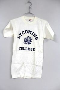 VTG Champion Running Man 1950s T Shirt NOS Lycoming College PA Indian Head RARE