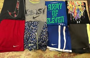 Boys YLG L Large Nike Under Armour Outfit Lot Shirts Shorts Sets