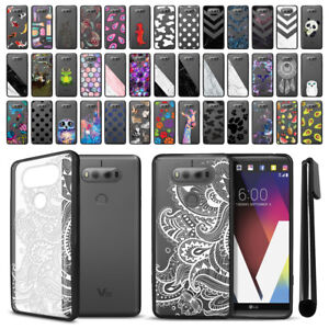 For LG V20 VS995 H990 H910 US996 Black Hard Clear Case TPU Bumper Cover  Pen
