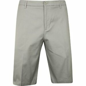 Ashworth Mini Check Medium Grey Shorts Men