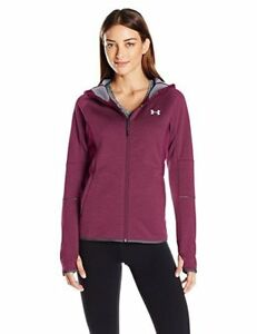 NWT Under Armour Women's Loose Fit Storm1 Full Zip Jacket Maroon Size XS XL