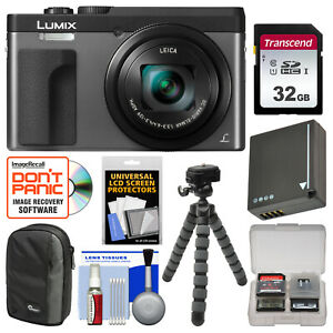 Panasonic Lumix DC-ZS70 4K HD Wi-Fi Digital Camera Kit Silver