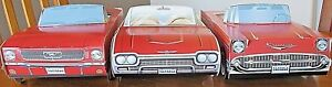 7 ~ Different RED Cardboard Classic Cars & Truck Kids Food Box Tray Party Favor