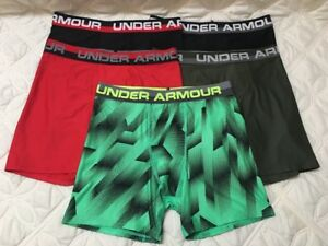 Under Armour Boys Heatgear Boxerjock Briefs. Lot of 5.. Size- Youth X Large.  #3