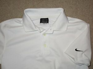 NIKE FIT DRY YOUTH BOYS GOLF POLO SHIRT WHITE SMALL (8) USED POLYESTER