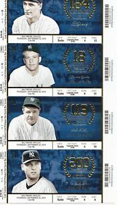 EBAY BUSINESS TICKET STUB BOOK SHEETS SPORTS DEBUT HR WORLD SERIES ALL STAR SET