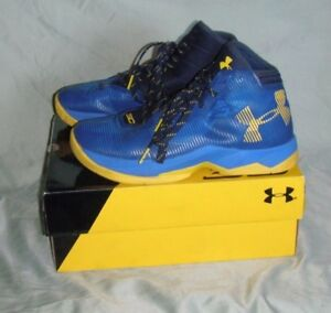 Under Armour Youth Boys Size 6.5 Curry GS Golden State 2.5 Basketball Shoes EUC