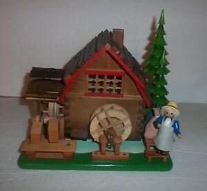 Vintage Steinbach Water Grist Mill Music Box Swiss Movement Made in West Germany