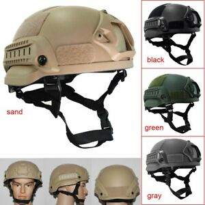 Military Tactical Combat MICH2002 Simplified Action Hunting Helmet w Airsoft