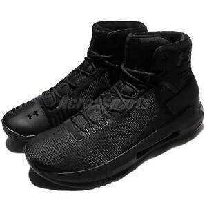 Under Armour Drive 4 IV UA Black Men Basketball Shoes Sneakers 1298309-001