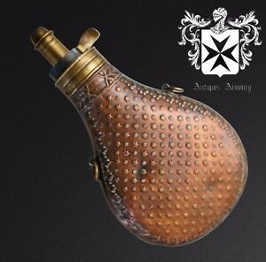 19th Century French Powder Flask Rare Design