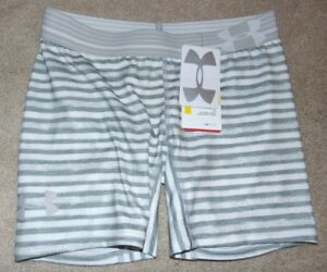 ~NWT Girls UNDER ARMOUR Striped Shorts! Size YXS Fitted Nice FS:)~