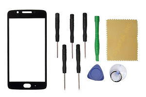 Black Front Screen Outer Glass Lens Replace For Motorola Moto G5 XT16701671