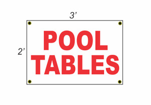 2x3 POOL TABLE Red amp; White Banner Sign NEW Discount Size amp; Price FREE SHIP $14.84