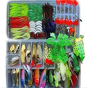 ❤ Fishing Lure Kit For Freshwater Saltwater Trout Bass Salmon(With Free Tackle