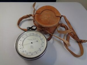 Antique Short & Mason Surveying Aneroid No C 24129 Tycos Barometer Altimeter