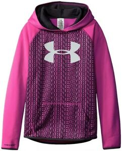 Under Armour Girls Big Logo Fleece Hoodie YLG NWT