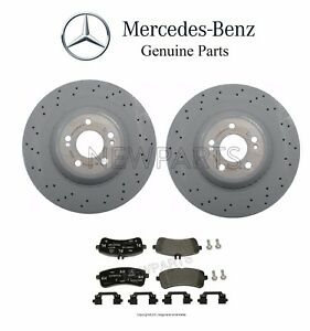 For Mercedes W222 Maybach S550 S600 Rear Brake Disc Rotors & Pad Set Genuine