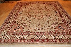 11x8 ft. SUPER QUALITY handmade wool & Silk crispy weave colorful Farahan Design