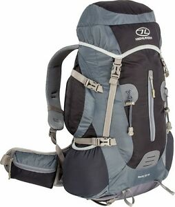 Black Rocky 35 + 5 Litre Rucksack Back Pack with Rain Cover - Camping Hiking