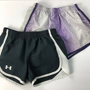Girls Under Armour & NIKE Fit Dry Athletic tempo running shorts Size YM Youth M